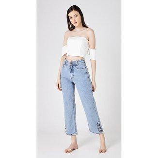 Calça Use Jeans Express Mom Reta Betina Feminina