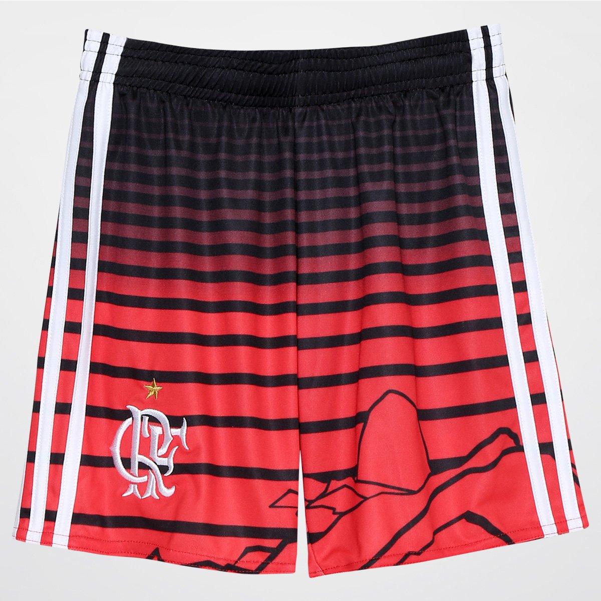 Calção Flamengo Infantil III 2016 Adidas - Compre Agora  99e3f85e939f5