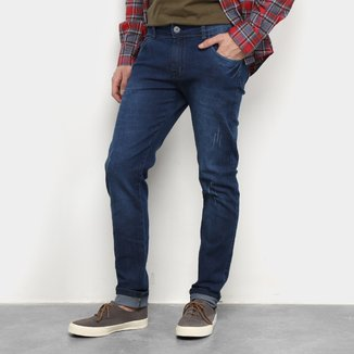 Calças Jeans Skinny Coffee Masculina