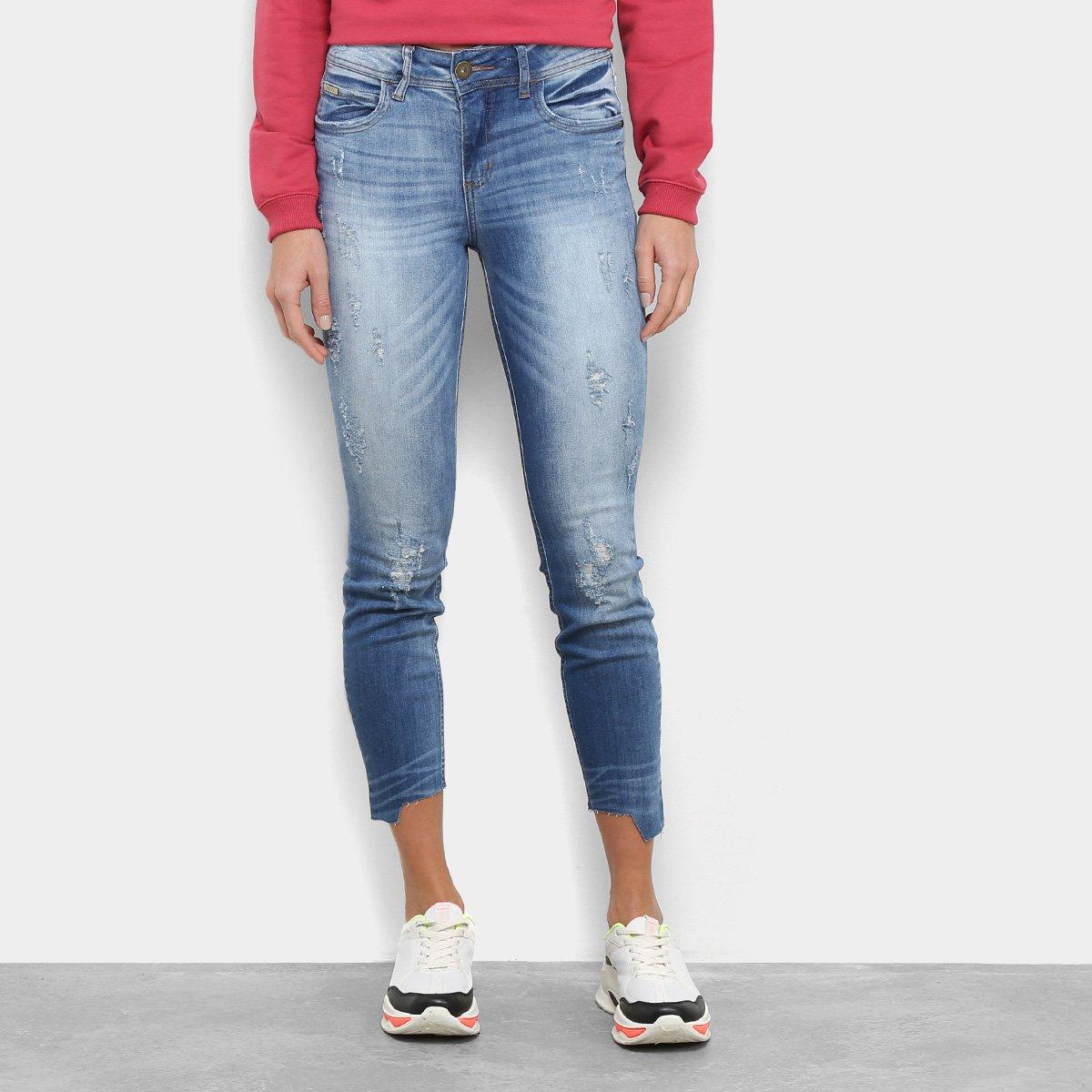 3d470b239 Calças Jeans Skinny Colcci Cory Feminina - Azul   Zattini