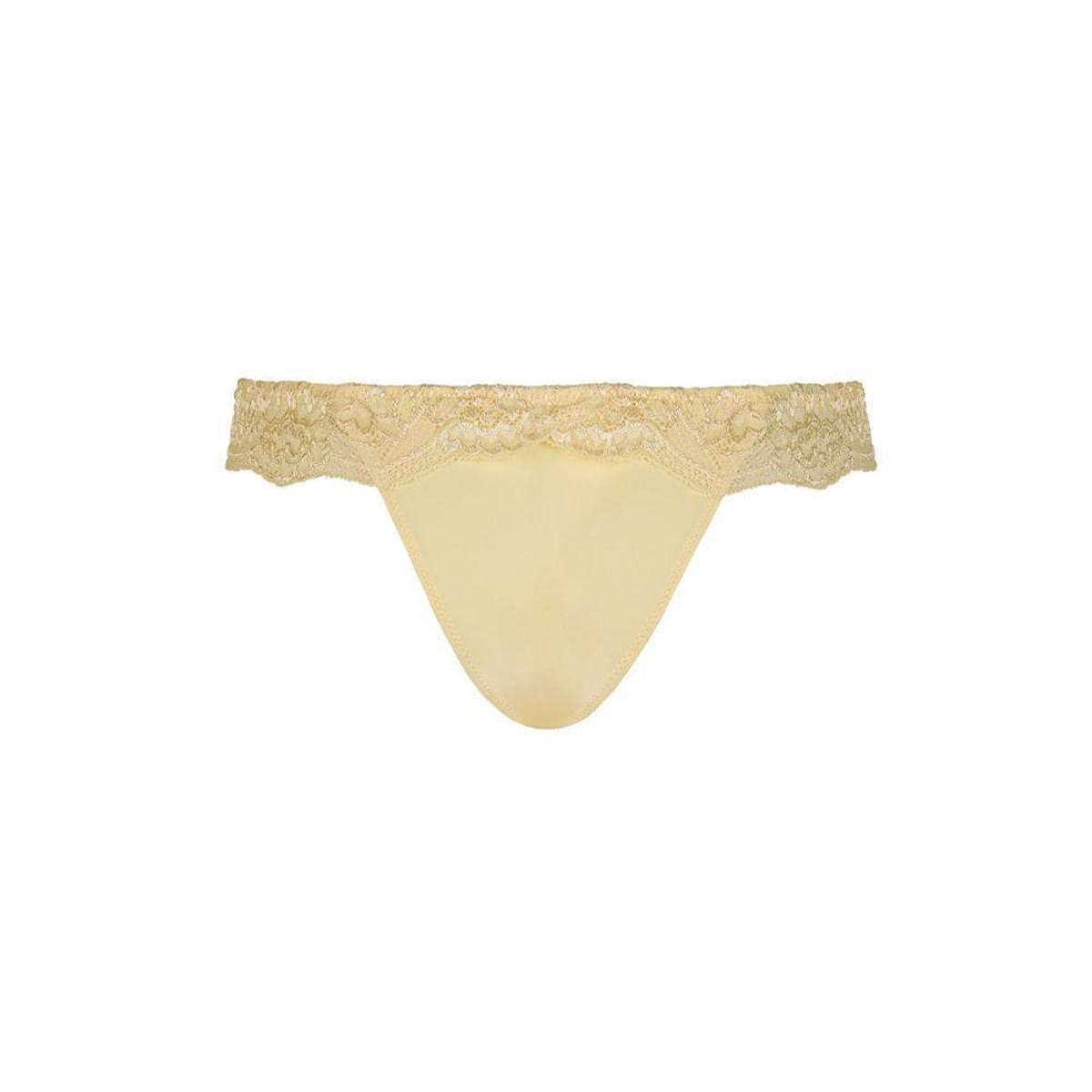 Calcinha Duloren Tanga Com Renda - Amarelo - Compre Agora  2dc6fe836de