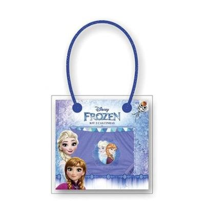 Calcinha Infantil Algodão Kit Com 2 Frozen Lupo