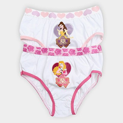 Imagem de Calcinha Infantil Lupo Princesas Kit c/ 2 Unidades