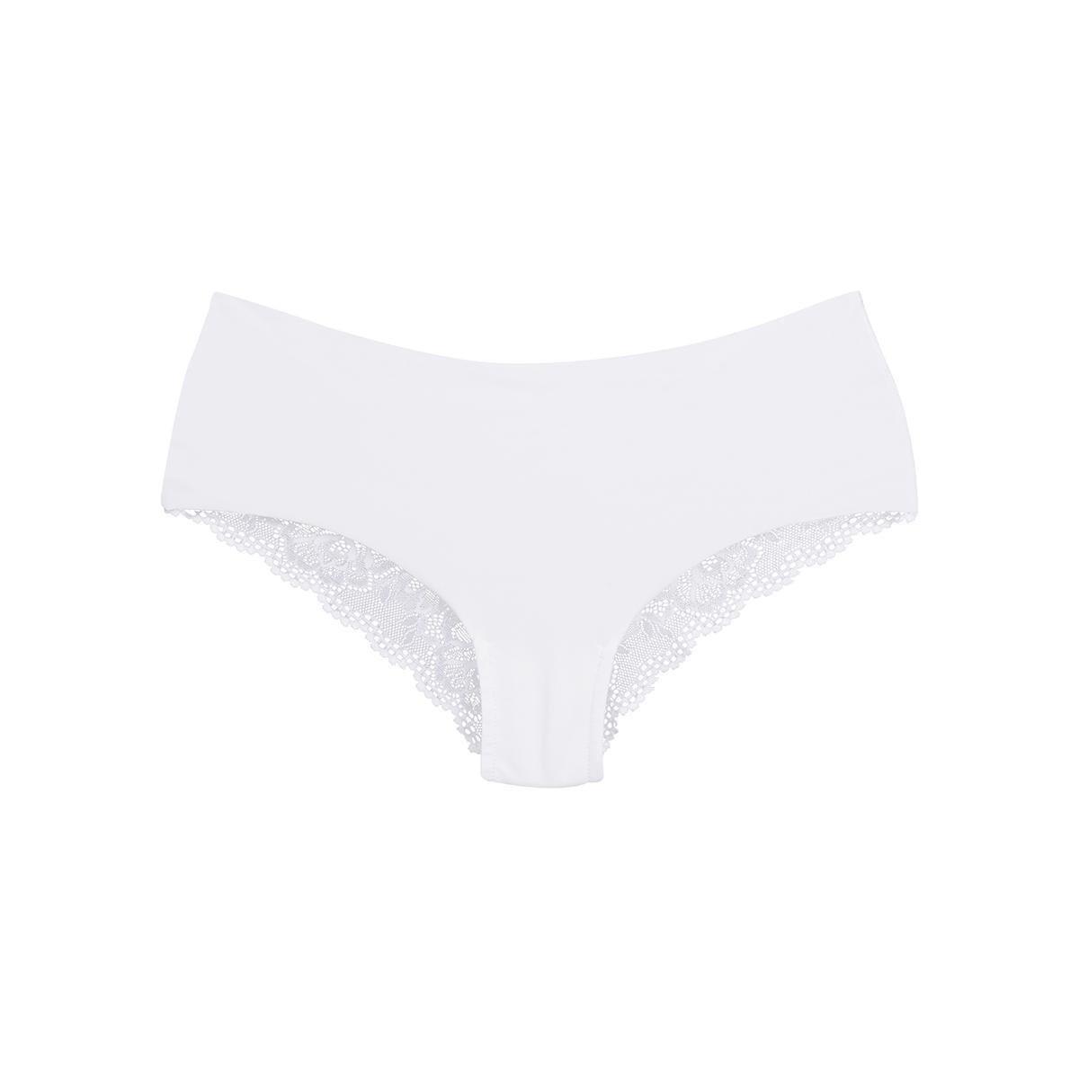 Calcinha Invisível Sem Costura Com Costas Em Renda - Branco - Compre ... 45f97c959c6