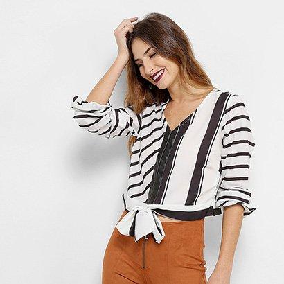 Camisa Acostamento Fashion Feminina