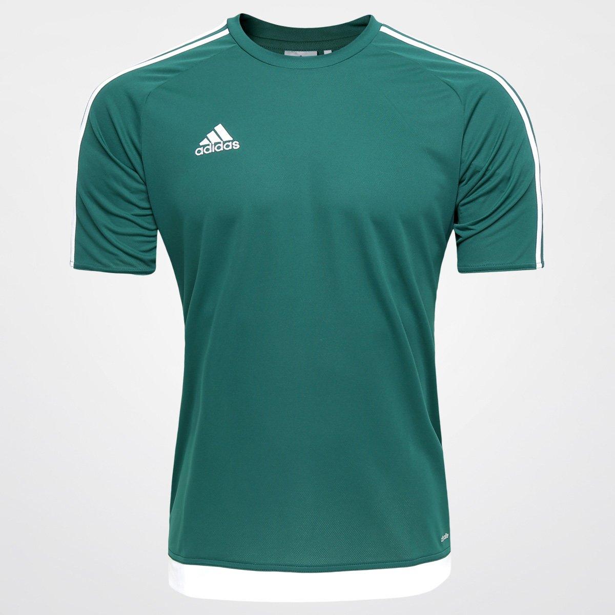 6c0a6bcc312 Camisa Adidas Estro 15 Masculina - Verde e Branco - Compre Agora ...
