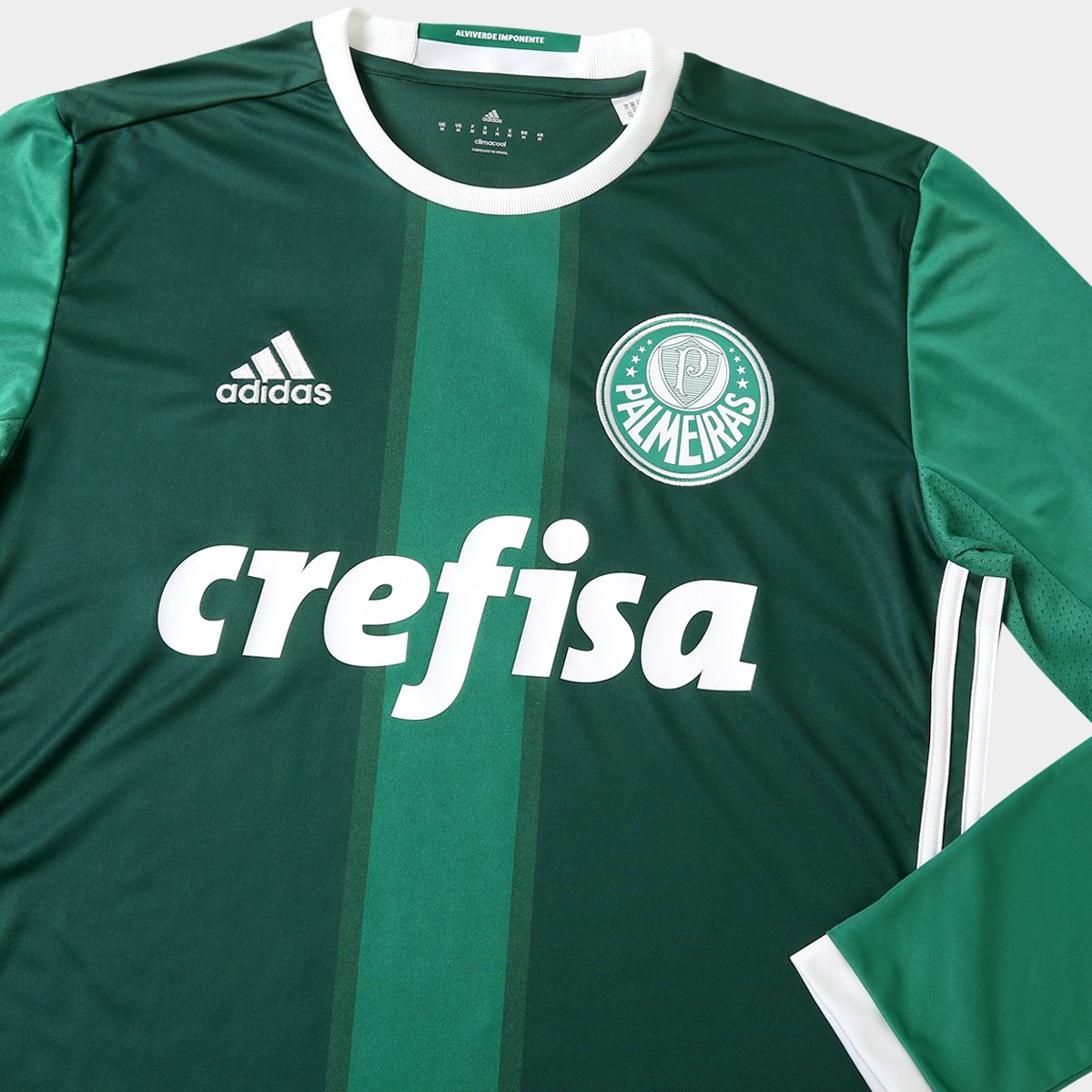 Camisa Adidas Palmeiras I 2016 s nº Manga Longa - Compre Agora  0946c401a2c1b