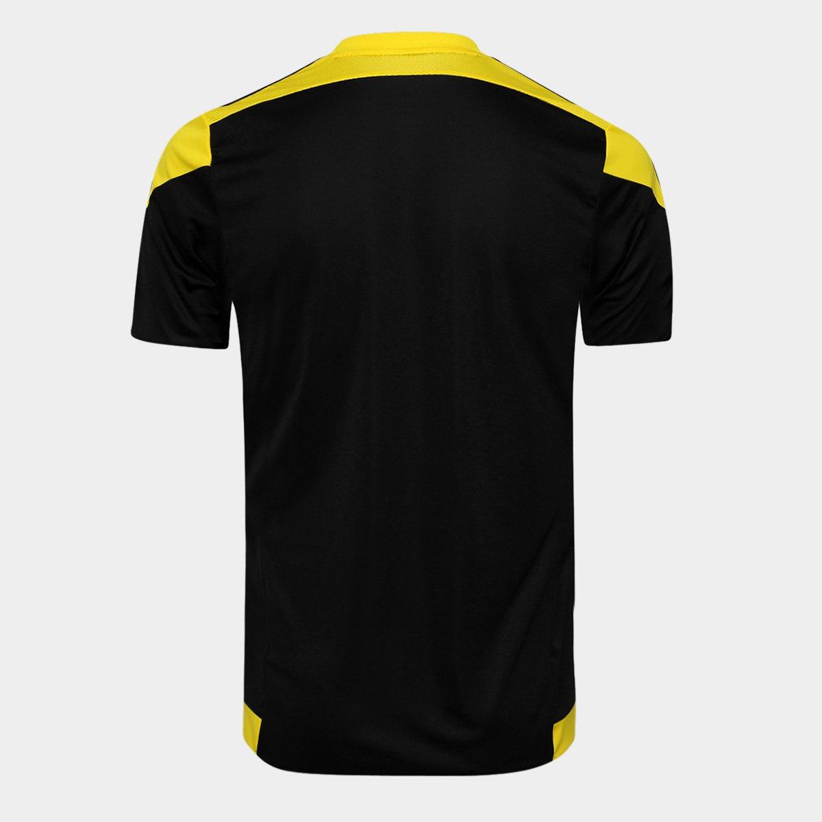 Camisa Adidas Striped 15 Masculina Amarelo e Preto