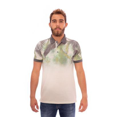 Camisa Aee Surf Gola Polo Slim Florest Masculina