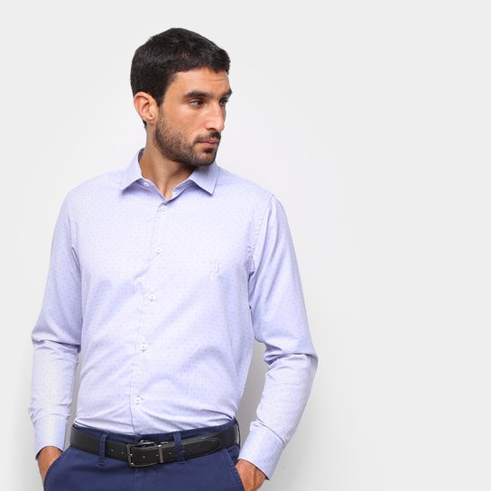 Camisa Aleatory Poá Masculina - Lilás