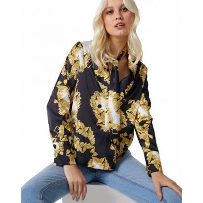 Camisa Amaro Blazer Laço Feminina-Feminino