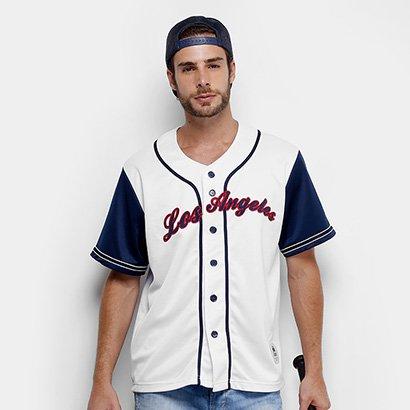 Camisa Baseball Kappa Los Angeles 17 Masculina