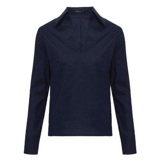 Camisa Básica em Tricoline  Feminina
