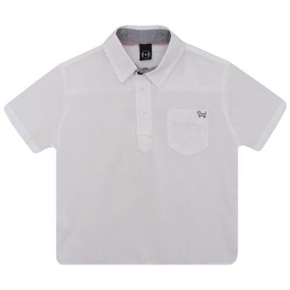 Camisa Bata Infantil Manga Curta Masculino