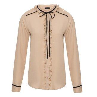 Camisa Bicolor Babados  Feminina