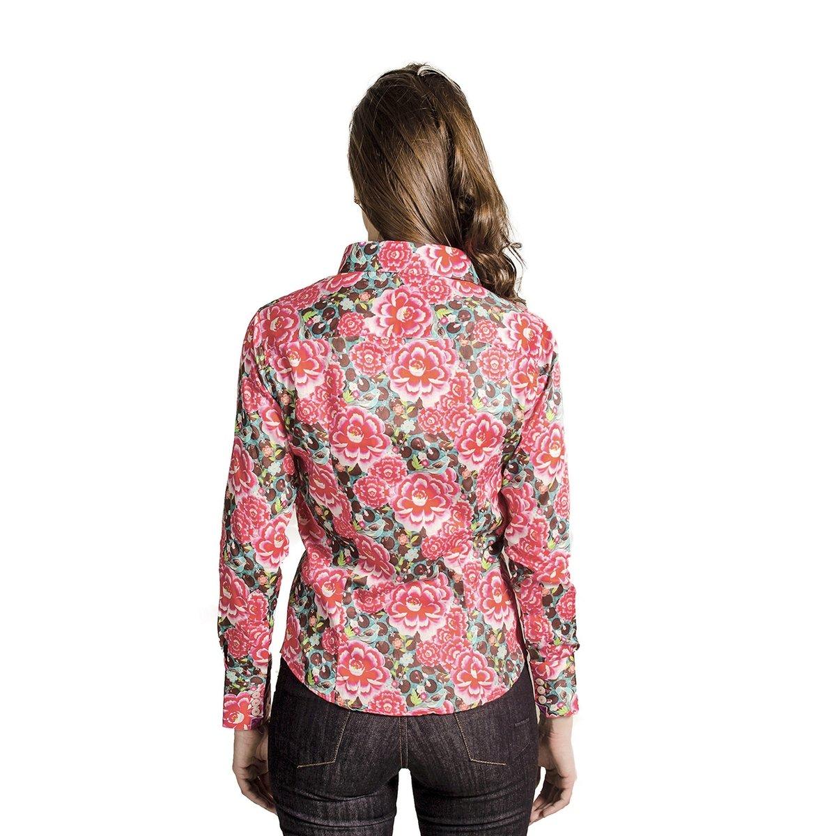 CAMISA CARLOS BRUSMAN FEMININA SLIM FLORIDA PINK - Pink - Compre ... d24262480c1fc