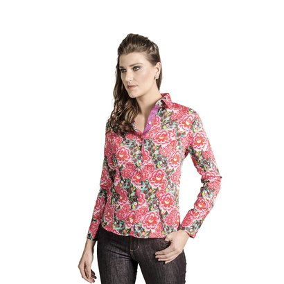 Camisa Carlos Brusman Feminina Slim-Feminino