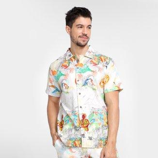 Camisa Colcci Estampada Manga Curta Masculina
