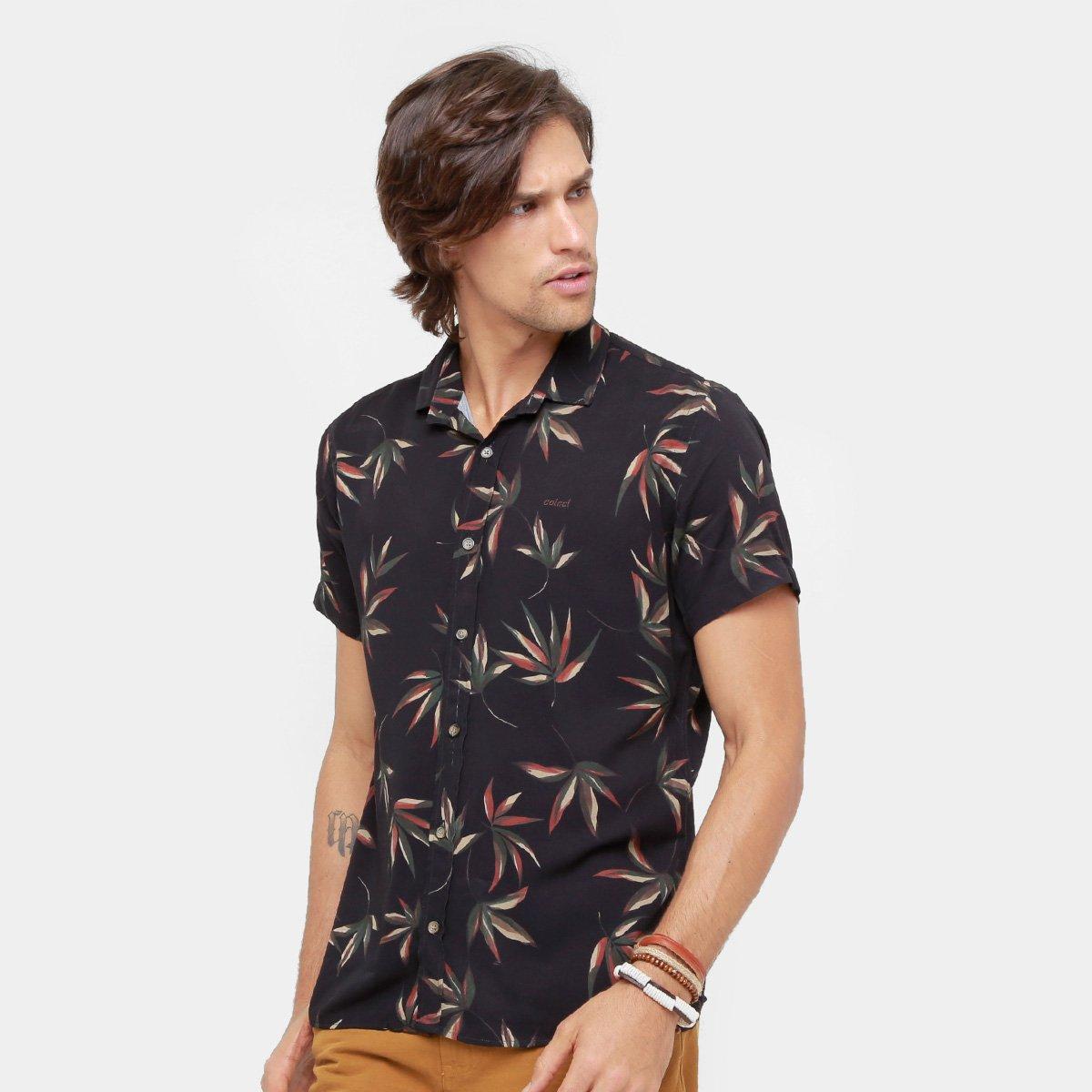 9ce07d2a9 Camisa Colcci Folhas Masculina - Compre Agora