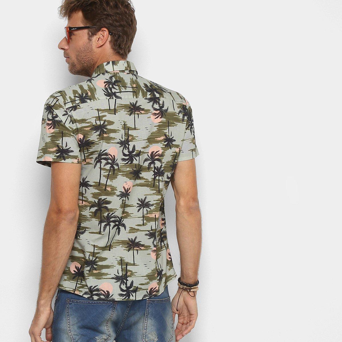 5c2b19f91d Camisa Colcci Manga Curta Estampada Masculina - Compre Agora