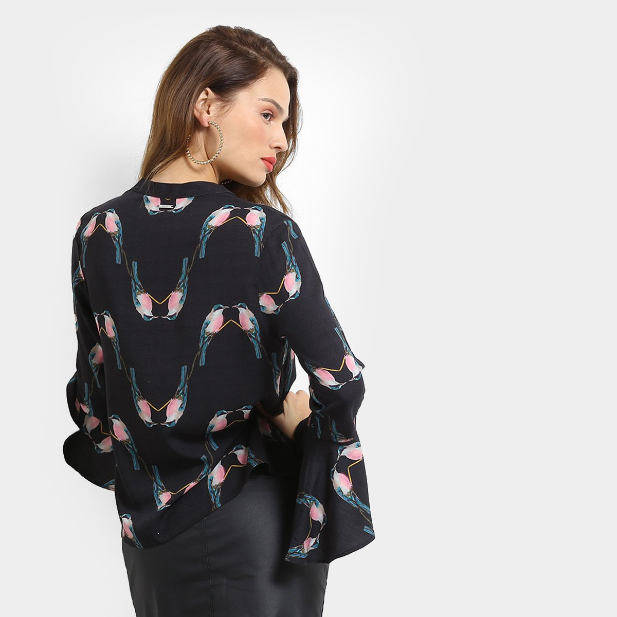 9cc2f8146 Camisa Colcci Pássaros Manga Sino Feminina - Compre Agora | Zattini