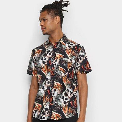 Camisa Cyclone Tecido Est Skul Tropical Masculina