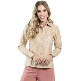 Camisa de Couro Blush