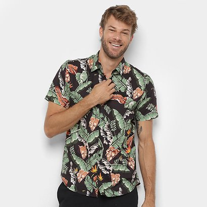 Camisa Diamond Tropical Paradise Masculina