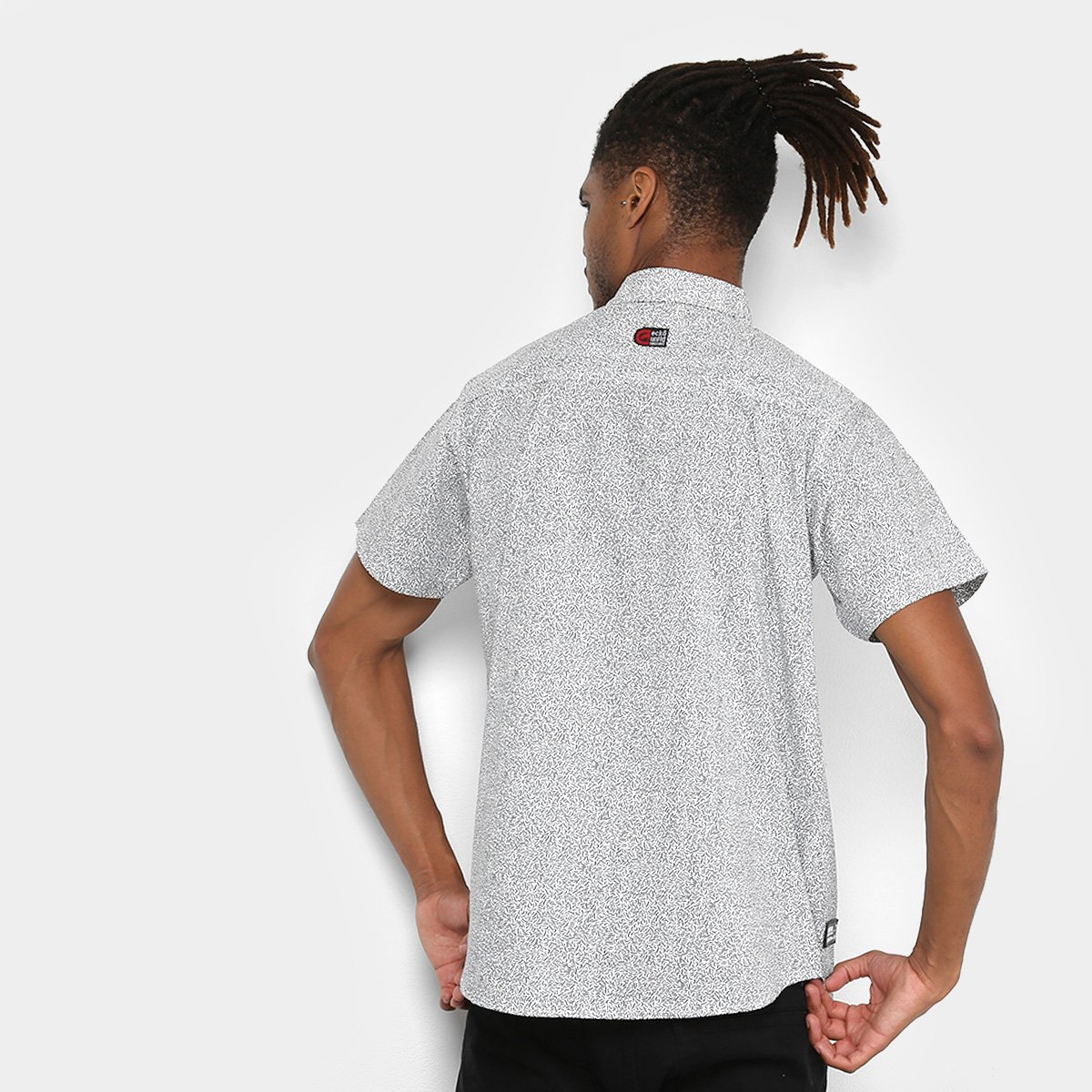 22ac30cf91 Camisa Ecko Manga Curta Ulina Masculina - Branco - Compre Agora ...