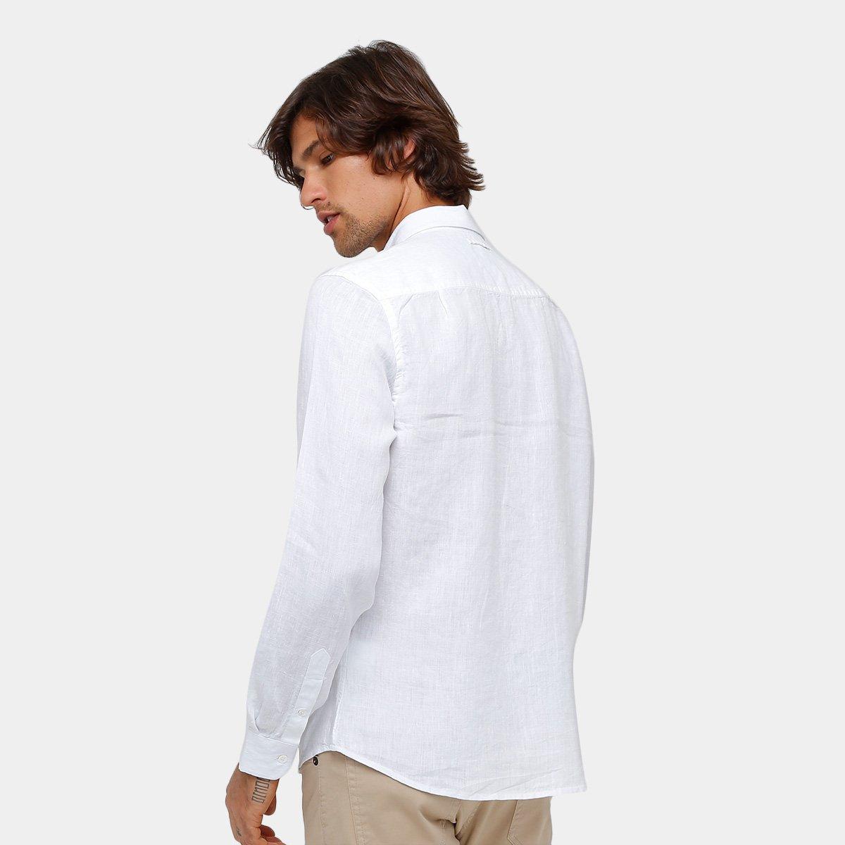 Camisa Ellus Classic Fit Linho Masculina - Compre Agora  70b7f97559b