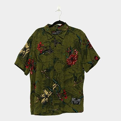 Camisa Ellus Constellations Hawaii Americano Manga Curta Masculina - Zattini BR