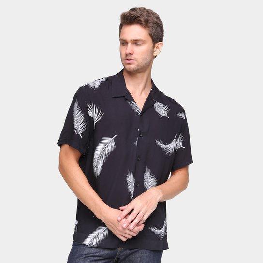 Camisa Ellus Estampada Masculina - Branco