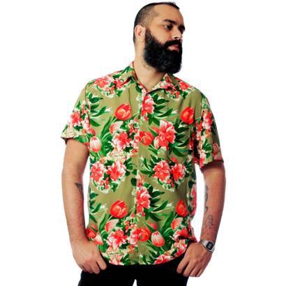 Camisa Estampada Floral Elephunk Charlotte Masculina