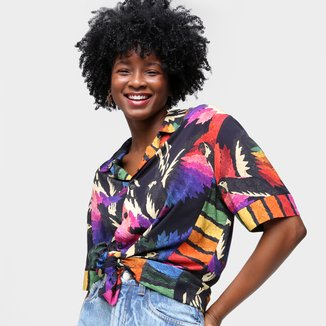 Camisa Farm Voo Colorido Feminina