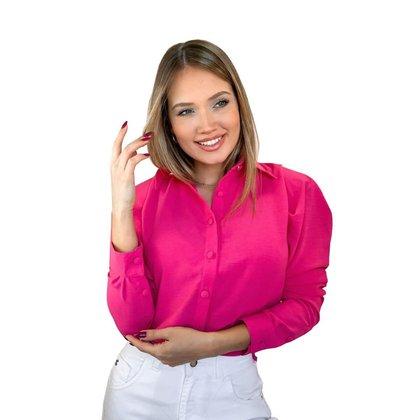 Camisa Feminina Manga Longa Bufante Diclass Brand