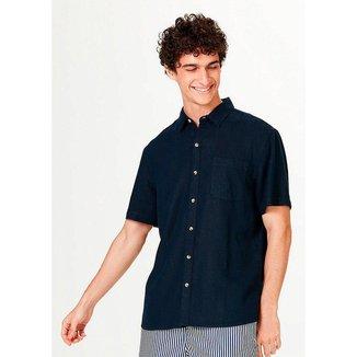 Camisa Hering Básica em Tecido Linho Masculina