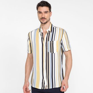 Camisa Hering Comfort Listras Masculina