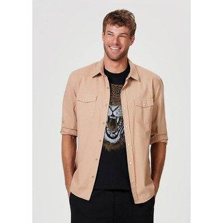 Camisa Hering Sarja Regular Com Bolsos Masculina
