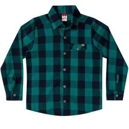 Camisa Infantil Flanela Xadrez Masculina