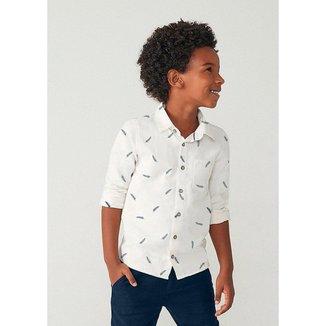 Camisa Infantil Hering em Tecido De Algodão Masculina