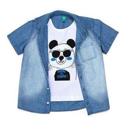 Camisa Infantil Jokenpô Panda com Giz