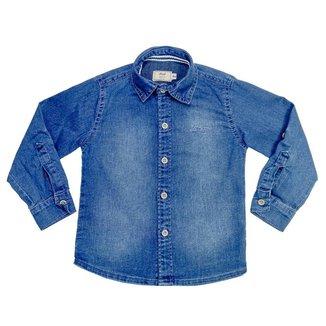 Camisa Infantil Look Jeans Clássica Jeans