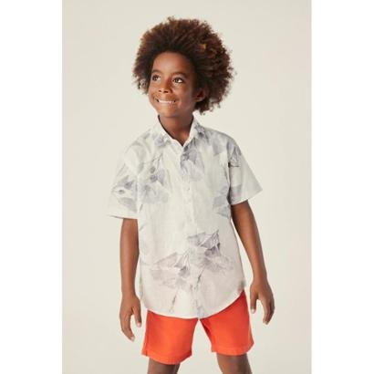 Camisa Infantil Reserva Mini Mc Hibisco Masculina