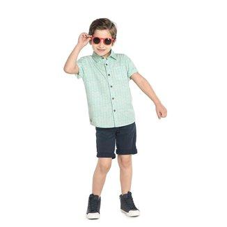 Camisa Infantil Rovitex Tricoline Com Bolso Masculina