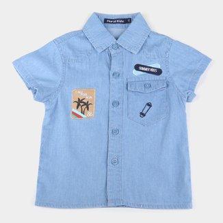 Camisa Jeans Bebê Plural Kids Summer Vibes Masculina