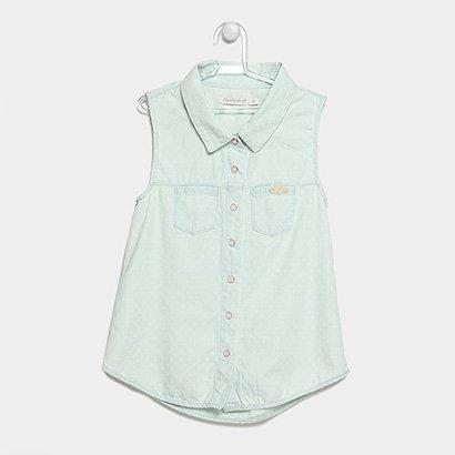 Camisa Jeans Infantil Lilica Ripilica Bolsos Feminina