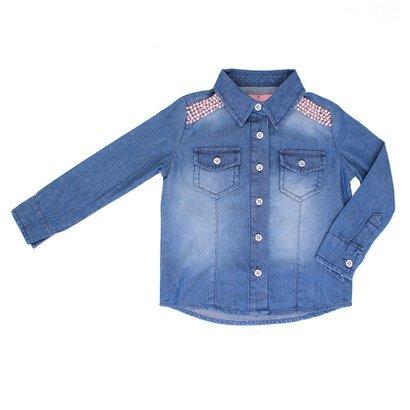 Camisa Jeans Pituchinhus Bordada