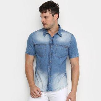 Camisa Jeans Zune Estonada Masculina