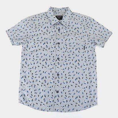 Camisa Juvenil Quiksilver Akan Waters Masculina