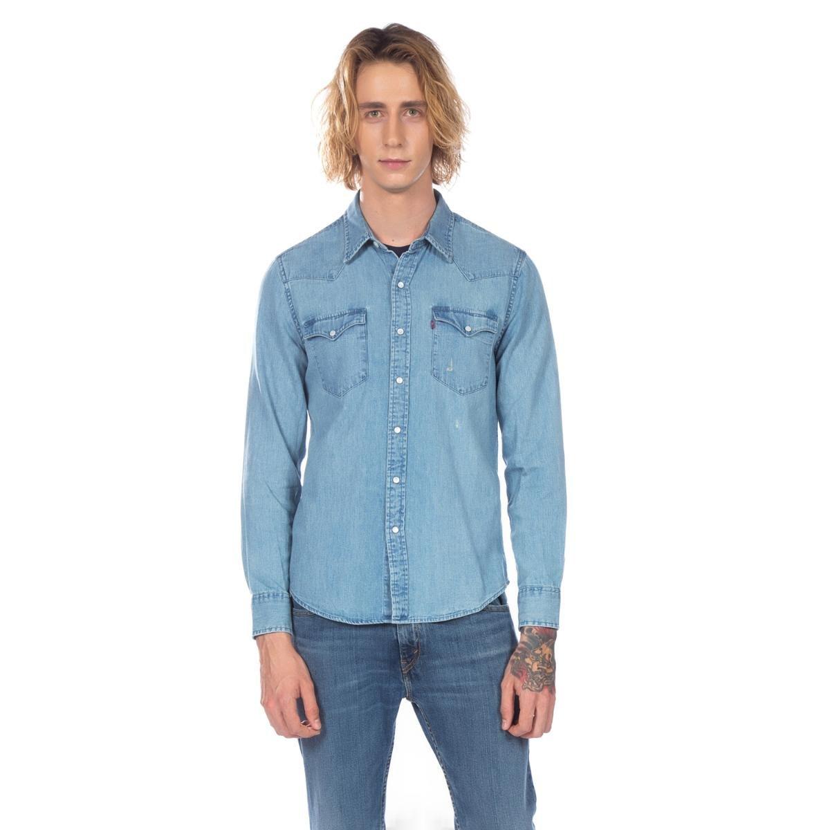 Camisa Levis Jeans Masculino Classic Western - Compre Agora  1f61a332a7c